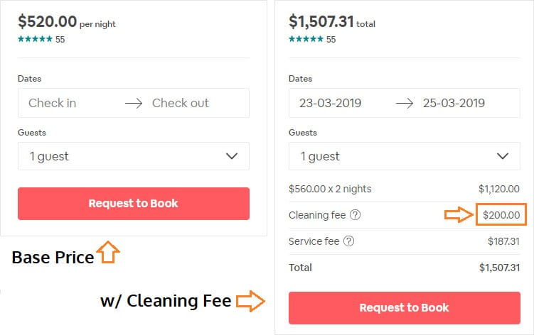 How much should I charge for my Airbnb cleaning fee? - Bnb Duck