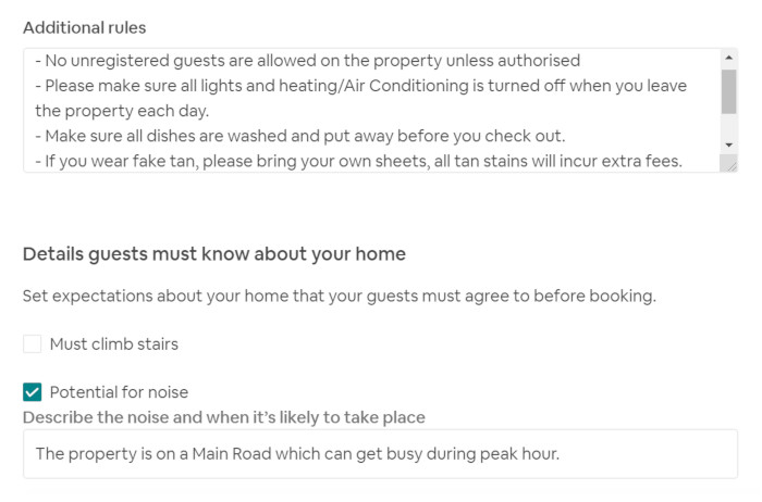 11 helpful examples of Airbnb House Rules - How to set your rules